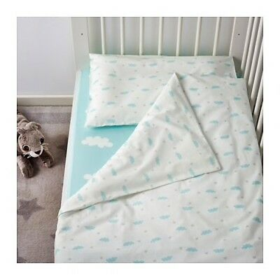 Ikea Cloud Crib HIMMELSK 4-piece bedlinen set baby stars cotton