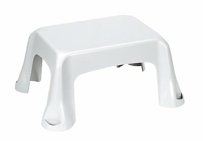 Curver Low Step Stool, Polypropylene, White, 35 x 25 x 10 cm