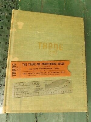 Trane air conditioning manual by the trane company 1595 picclick 1941 trane air conditioning manual repair book w trane psychrometric ruler fandeluxe Images