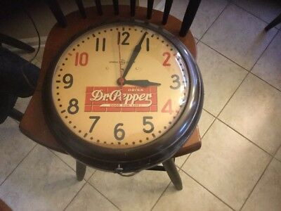 1940s Dr. Pepper Working Round Clock