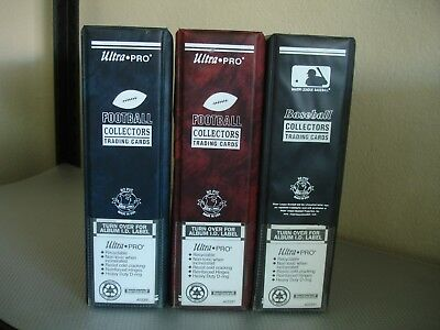 """3 Ultra Pro 3"""" Collectors Trading Card Binders Heavy Duty D-Ring Albums"""