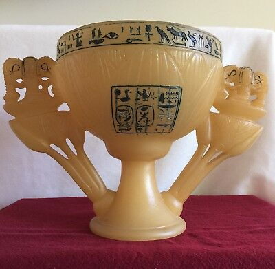 1978 Ancient Egyptian Alabaster King Tut Wishing Cup