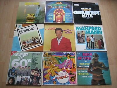 36 Oldies LP`s - E.Presley, The Beatles, Everly Brothers, Beach Boys, J.L.Lewis,