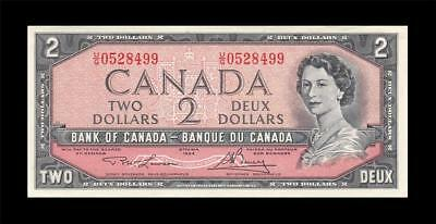1954 BANK OF CANADA QEII $2 **Lawson & Bouey** (( GEM UNC ))