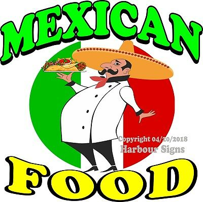 MEXICAN FOOD DECAL (Choose Your Size) Concession Food Truck Vinyl Sign Sticker