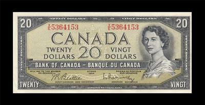 1954 BANK OF CANADA QEII $20 **Beattie & Rasminsky** (( aUNC ))