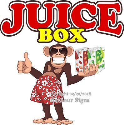 Juice Box Drinks DECAL (Choose Your Size) Monkey Concession Food Sticker