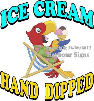 Ice Cream Hand Dipped DECAL (CHOOSE YOUR SIZE) Food Truck Concession Sticker