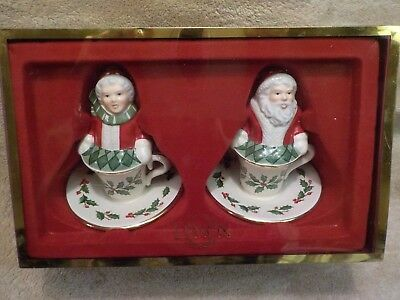 LENOX Holiday COLLECTION Holiday Castle SALT AND PEPPER SHAKERS NIB