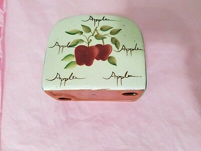 Vintage homco home interior country apples wall plaque 7618 b picclick for Home interiors apple orchard collection