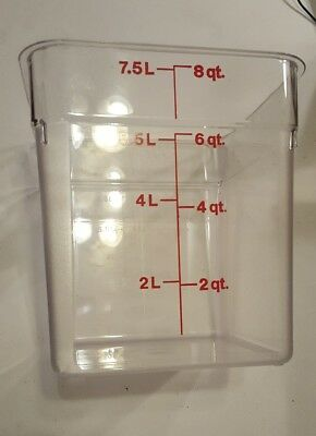 Cambro 8SFSCW 8qt Clear Square Storage Container