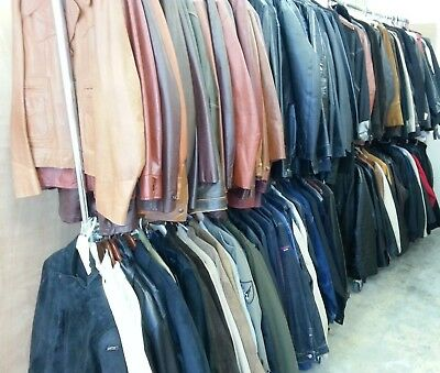 LARGE 100+ Lot/Collection of MEN'S Jackets / Coats, Leather, Denim -BRAND NAMES