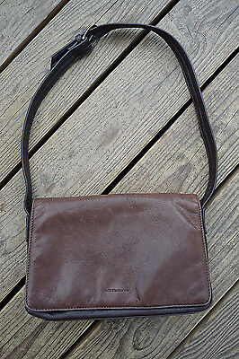 Leather Co. by LIZ CLAIBORNE Two-tone Dark and Lighter Brown Shoulder Bag  Purse d37412198fc66