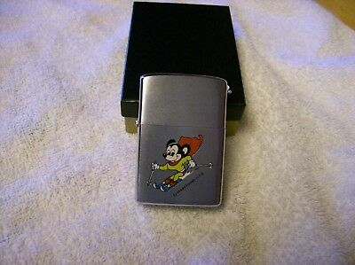 Rare 80's Mighty Mouse Terrytoons Zippo Lighter (never used)