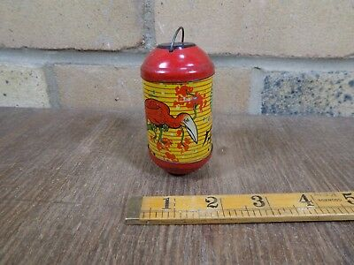 Chinese Bird Lantern Shaped Cocoa Chocolate Sample Miniature Tin c1920s