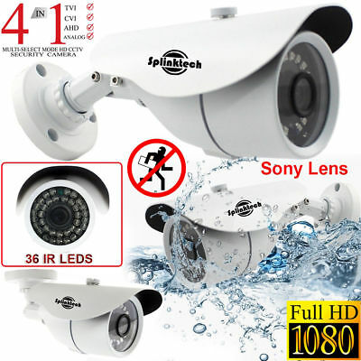 CCTV Bullet Camera 1080p Full HD 2.4MP Sony Lens AHD CVBS Analog IR Night Vision