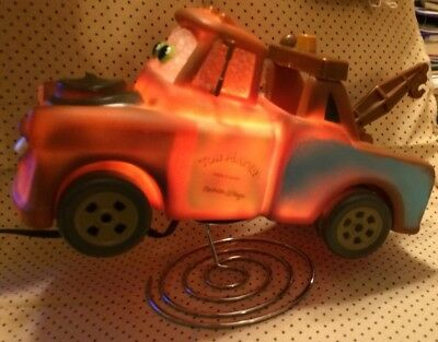"Used 8"" inch Long Tow Mater Electric Night Light, Disney/Pixar Cars, Brown Truck"
