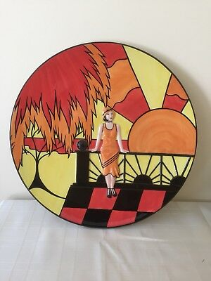 """Lorna Bailey """"Art Deco Lady"""" Charger Limited Edition"""