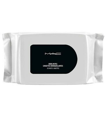 MAC To Go Demi Wipes Facial Cleansing Makeup Remover Refreshing 30 Sealed Towels