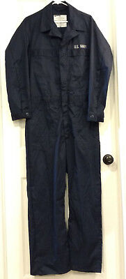 U.S. Navy Issue Blue Coveralls 40L Coverall Utility USN