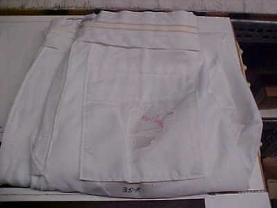 USN Navy Male Officer Dress White Trousers Pants 35R FREE SHIPPING loc#w144