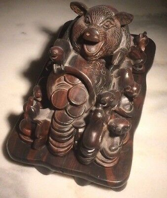 Hand carved incense burner
