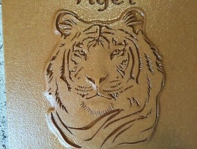 "Tiger Mold Plaque 14.5""x 14.50"" x 2"" Plastic Plaster Concrete Mold"