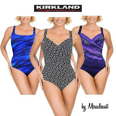 d406867ca0ce5 Kirkland Signature By Miraclesuit Womens Slimming One Piece Swimsuit Sizes 8 -18