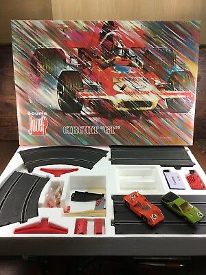 VINTAGE c.1970's JOUEF 3040 GT FRENCH SLOT CAR SET IN ORIGINAL BOX
