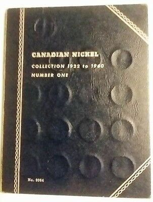 Canadian Nickel Book 1922 - 1960 40 of  43 in Old Whitman Album  FREE S/H