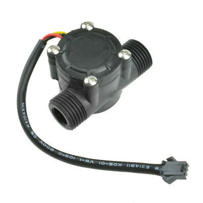 "1/2"" External Thread Water Flowmeter Hall Sensor Water Control 1-30L/min 1.75Mpa"