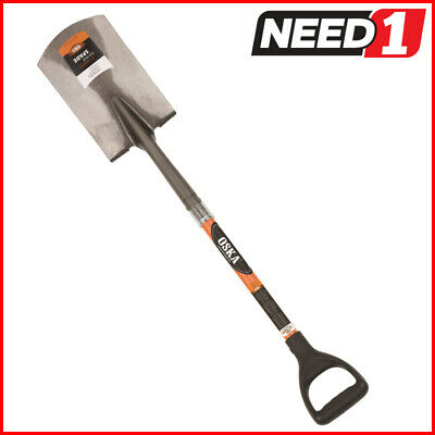OSKA Square Nose Shovel with Fibreglass Ergo Handle. Available in Packs of 2