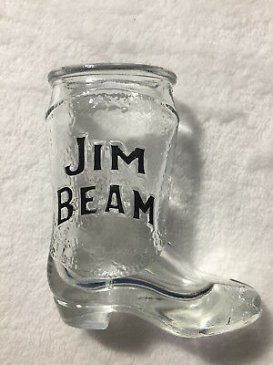 Vintage Jim Beam Cowboy Boot Shot Glass Kentucky Bourbon Whiskey Barware