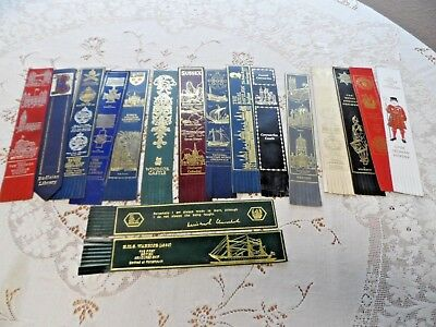 Lot of 17 Leather Bookmarks Mostly from England