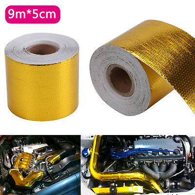 9Mx5CM Gold Roll Adhesive High Temperature Reflective Heat Shield Wrap Tape