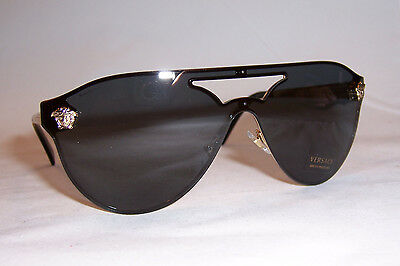New Versace Sunglasses Ve 2161 100287 Gold/gray Authentic