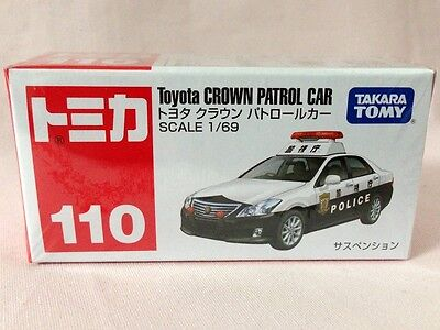 TOMICA #110 Toyota CROWN PATROL CAR 1:69 Scale Diecast Model TOMY 2012 New