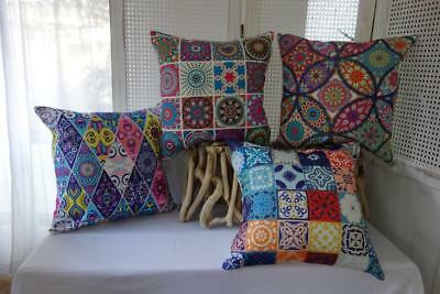 Bohemian Abstract Cotton Blend Sofa Couch Bed Lounge Cushion Cover 45
