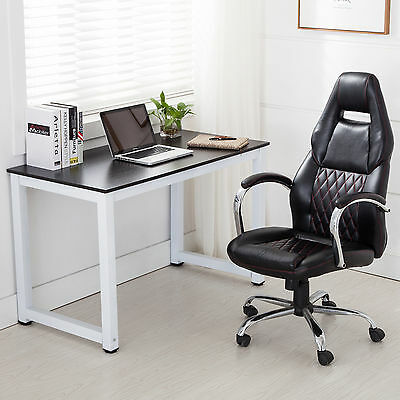 Black Computer Desk PC Laptop Study Table Home Office Workstation Furniture