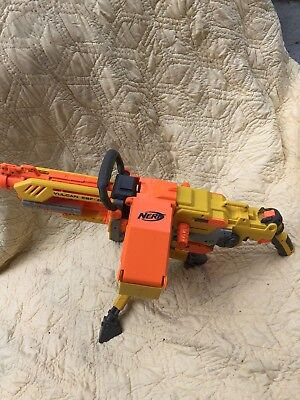 Nerf Vulcan EBF-25 Dart Machine Gun w/Ammo Box & Tripod *TESTED*