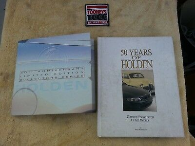 50 years of Holden book, 50th anniversary collector cards & 1993 Bathurst patch
