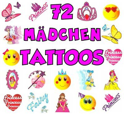 German Trendseller® - 72 x Tattoos für Mädchen | Kinder Tattoos | Tattoo Mix