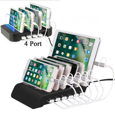 6-Port USB Charge Station Multi-Device Hub Charging Dock for Phone iPad Tablet