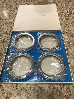 F. B Rogers Silver Company Silver Plated Glass Hostess Coasters