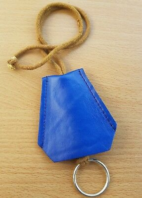 Blue Leather Key Ring Cover Party Necklace   .B03