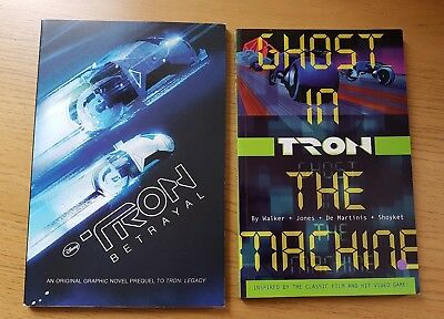 2 x Tron Graphic Novels (Betrayal / Ghost in the Machine / Rare / Disney / Book)