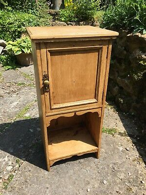 A Stunning French Antique Pine Bedside Table / Bedside Cabinet - Great Condition