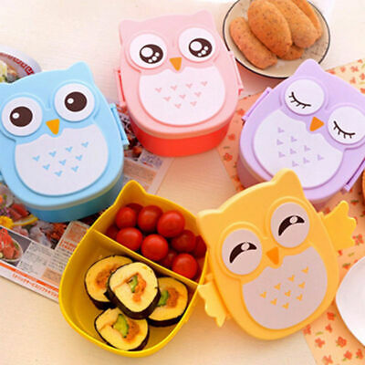 1PC Cute Cartoon Owl Lunch Box Food Container Storage Portable Kids Bento Box