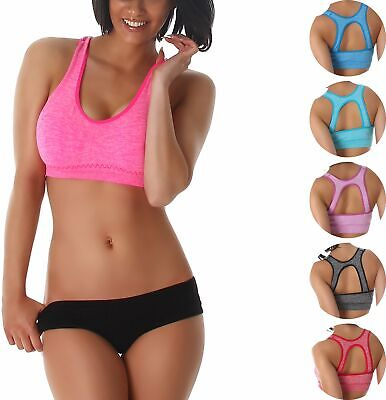 Sport-BH Push-Up Stretch Soft Bustier Top Fitness Yoga Work-Out Cup 60 - 80 B-C