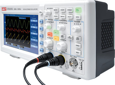 UTD2025CL 25MHz 250Ms/s Digital Storage Oscilloscope 2-Ch 7'' LCD UK Stock !!!
